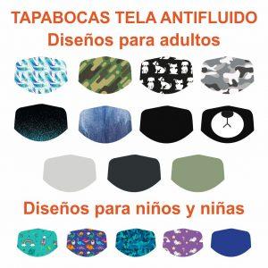Tapabocas De Tela Antifluido
